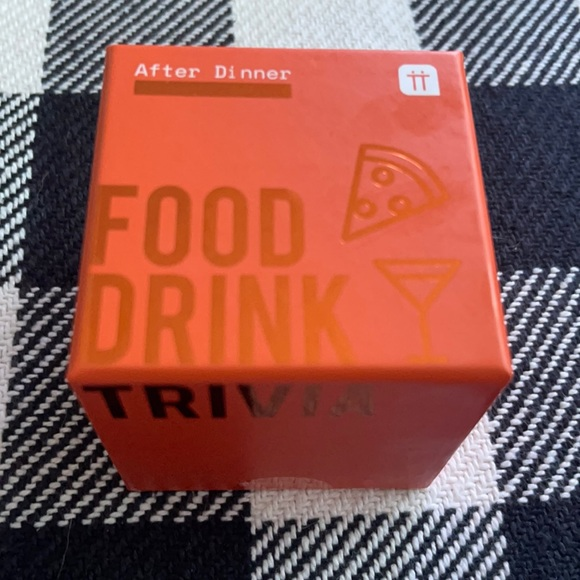 After dinner food and drink trivia game